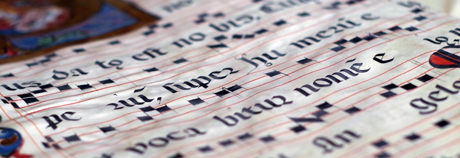 Medieval music manuscript