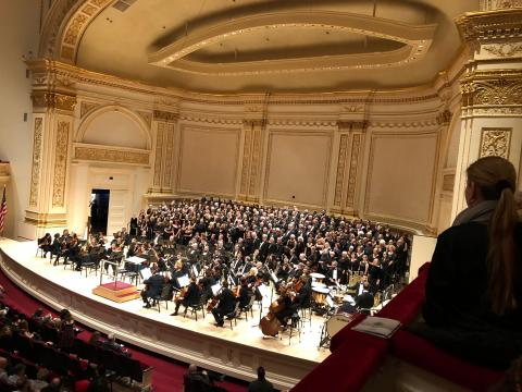 Rehearsing in Carnegie Hall
