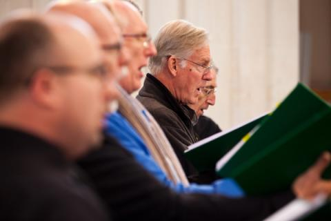 In Rehearsal at Douai - Photo by Simon Crompton-Reid