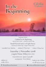 Cecilia Consort - In The Beginning.  Autumn 2018 Concert